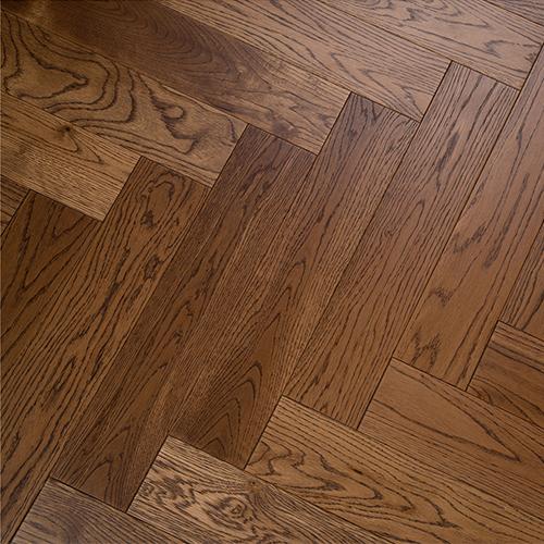暖色红橡地暖地板