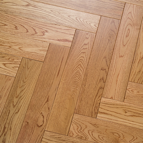 暖色红橡拼花地板