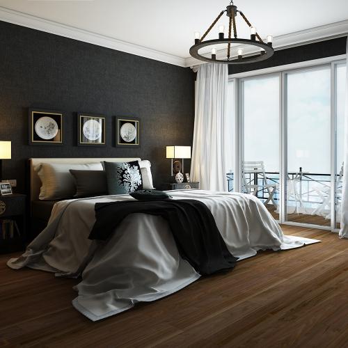 暖色黑核桃木地板