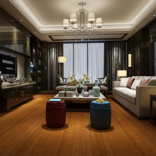 暖色柚木实木地板